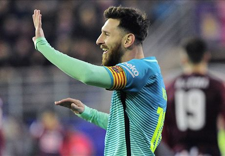 Messi inspires but Busquets injury a blow