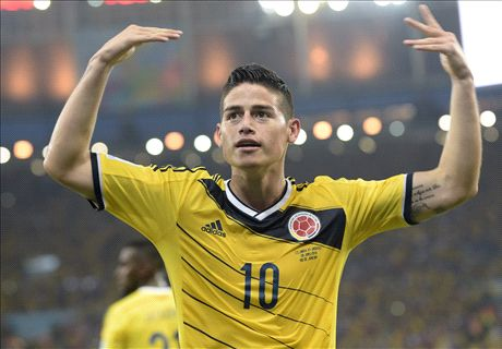 How will Madrid line up with James?