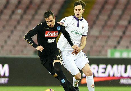 Napoli-Fiorentina LIVE! 0-0, traversa Insigne