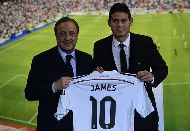 James Rodríguez fue presentado como nuevo jugador de Real Madrid.