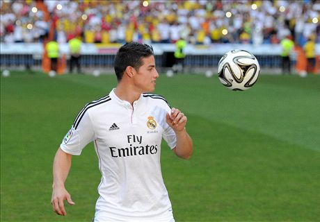 James: I hope Falcao joins Madrid