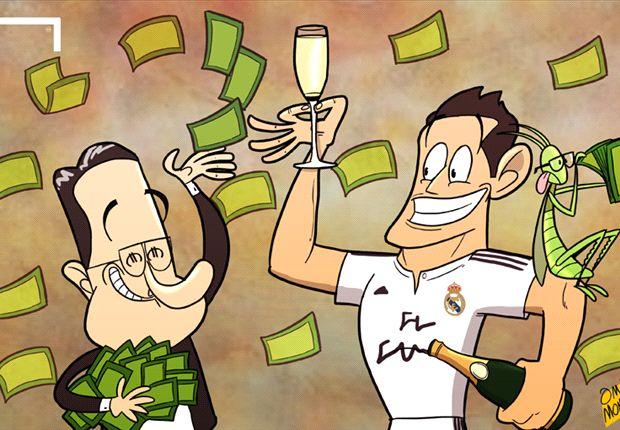 James Rodríguez al Real Madrid, millones y champán