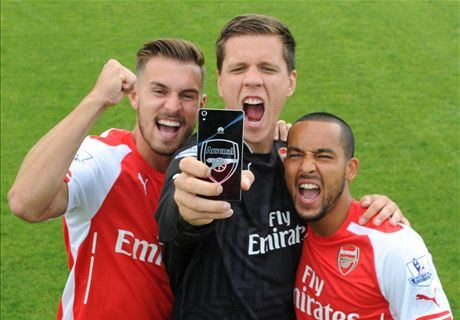 Arsenal lead the selfie revolution