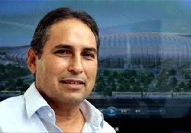 González Ornelas, presentando el proyecto del nuevo estadio de Rayados