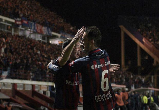 San Lorenzo goleó Bolívar y tiene un pie en la final de la Libertadores