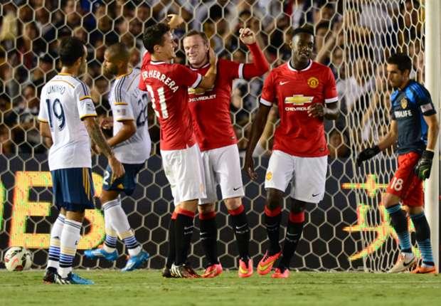 Traf gegen LA Galaxy doppelt: Stürmerstar Wayne Rooney
