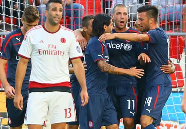 Balotelli-less AC Milan embarrassed by Olympiakos