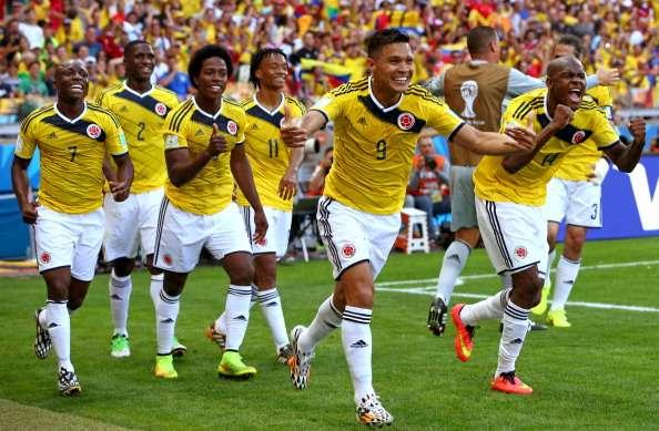 Teofilo Gutierrez Celebra gol ante Grecia