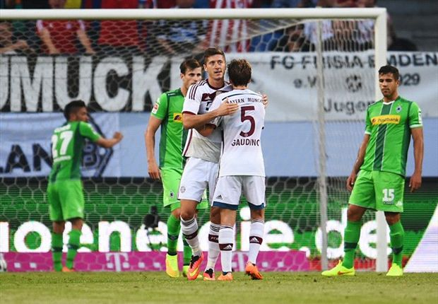 Bayern Munich 2-2 Borussia Monchengladbach (5-4 pens): Lewandowski & Ribery net before shootout success