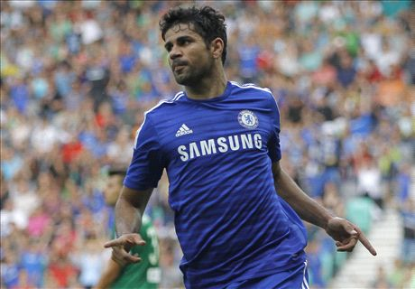 Diego Costa scores on Chelsea debut