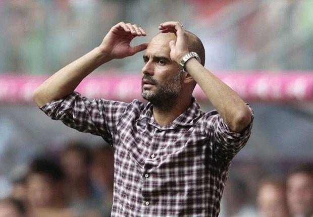 Guardiola en un partido de pretemporada