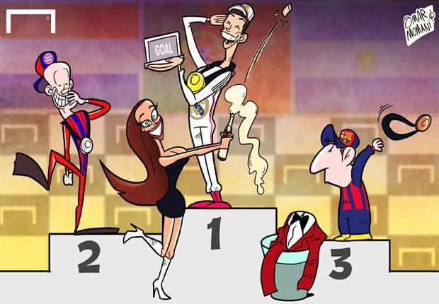 Cristiano Ronaldo arrebata el Goal 50 a Arjen Robben y Lionel Messi
