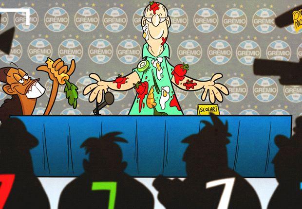 Luiz Felipe Scolari, ¿a tomatazos en su presentación?