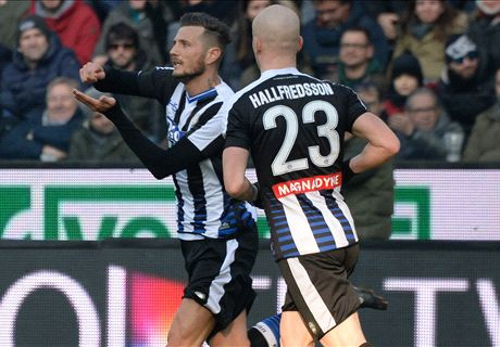 Thereau shines as Udinese beat Milan