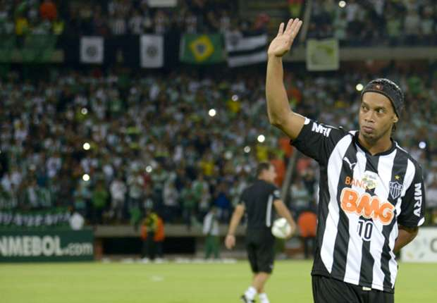Ronaldinho durante su etapa en el Atletico Mineiro