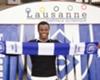 FC Lausanne-Sport celebrate Taye Taiwo at 32