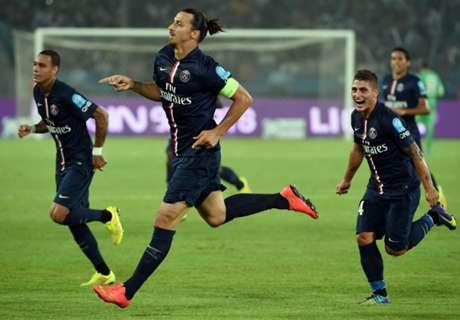 PSG 2-0 Guingamp: Ibra double