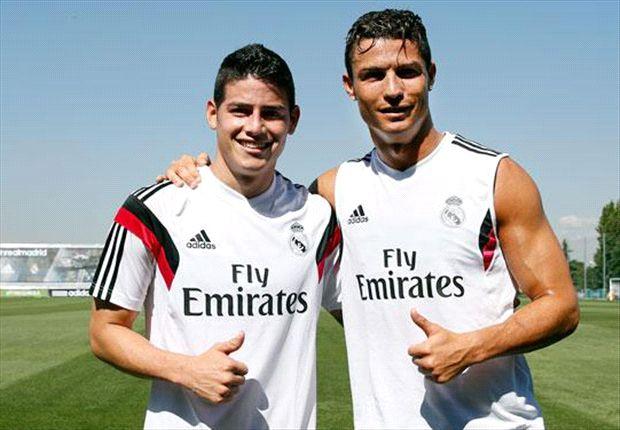 Ronaldo y James jugarán juntos por primera vez en Cardiff