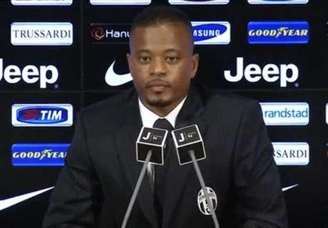Juventus, Evra touché à la cuisse