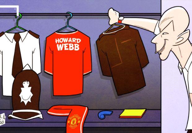 Howard Webb cuelga el silbato... y la camiseta del Manchester United
