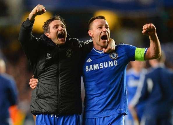 Frank Lampard y John Terry jugando con el Chelsea