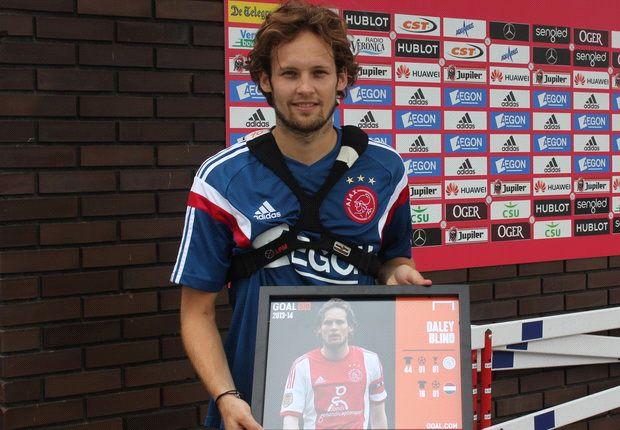 Daley Blind thanks Louis van Gaal after being named in Goal 50