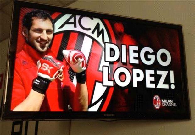 Diego Lopez & Armero undergo AC Milan medicals