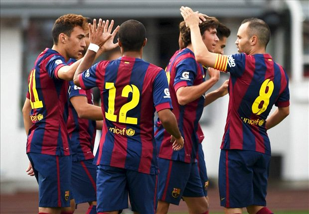 HJK Helsinki 0-6 Barcelona: El Haddadi at the double as Catalans crush Finnish foes