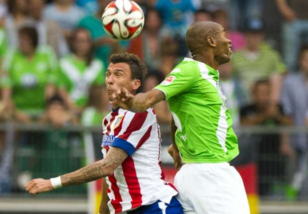 Mario Mandzukic, durante el amistoso ante el Wolfsburgo