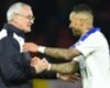 Leicester City manager Claudio Ranieri and Danny Simpson