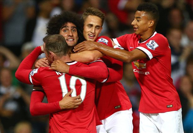 Manchester United 2-1 Valencia: Fellaini answers jeers with late winner on Van Gaal's Old Trafford bow