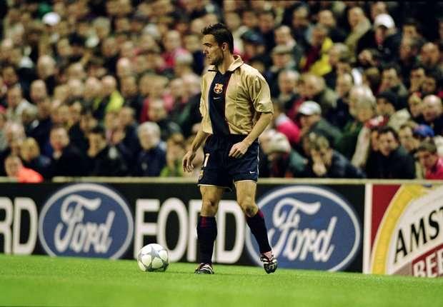 Marc Overmars for Barcelona in 2001