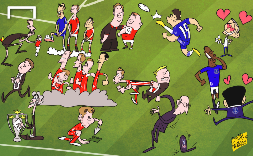 Premier League Cartoons Chaos of The Premier League is