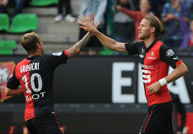 Ligue 1: Rennes hit Evian for six