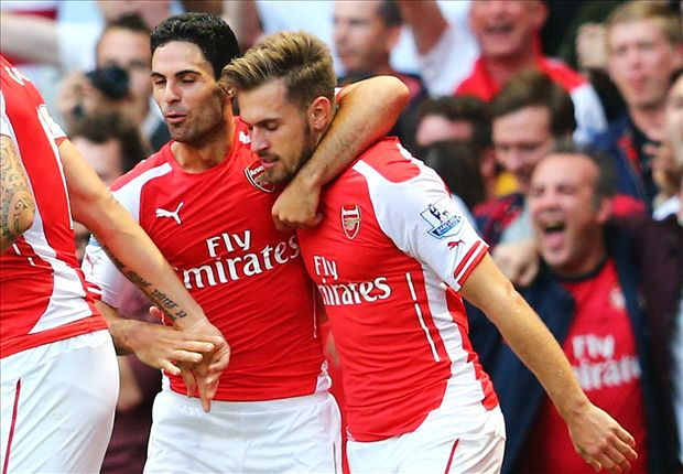 Arsenal 2-1 Crystal Palace: Ramsey bags late winner for relieved Gunners