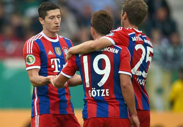 Preussen Munster 1-4 Bayern Munich: Bavarians breeze into second round