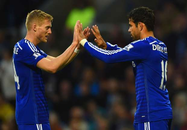 Mourinho frustrated by Diego Costa 'dive' yellow card