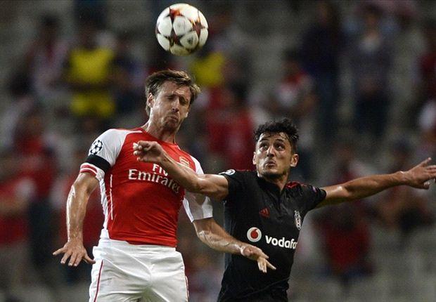 Arsenal und Besiktas lieferten sich ein umkämpftes Spiel
