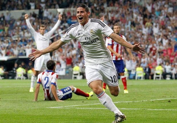 James Rodríguez debutó con gol en el Santiago Bernabéu