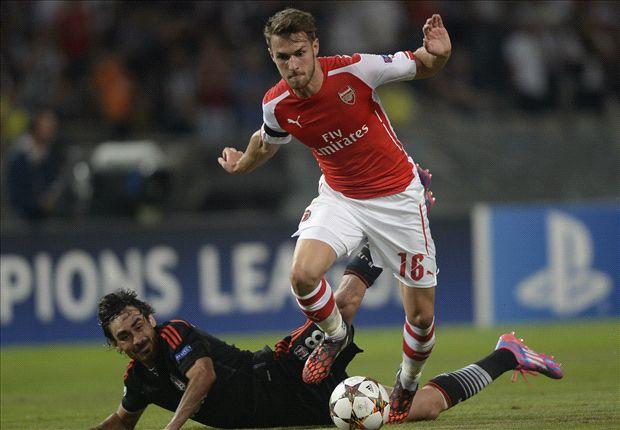 Ramsey fue uno de los mejores en la ida