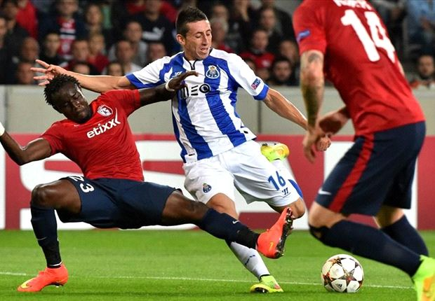 Herrera scores in Porto's Champions League win