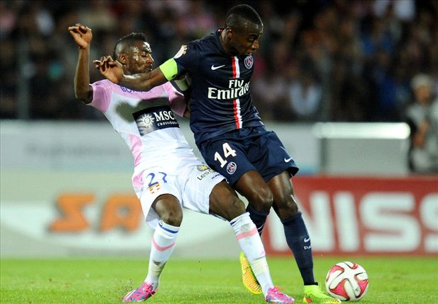 Evian 0-0 Paris Saint-Germain: Cabaye sees red in bore draw