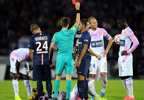 Cabaye sees red as Evian hold PSG