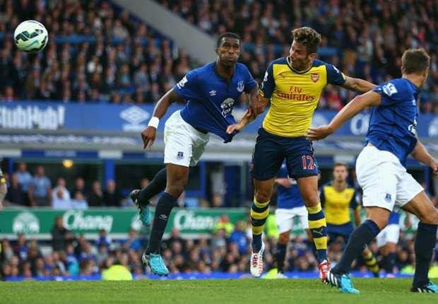 Olivier Giroud Premier League Everton v Arsenal 230814
