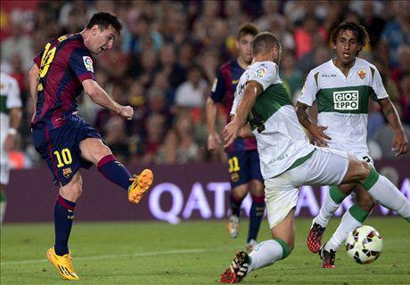 Messi en Munir geven Barcelona weer glans