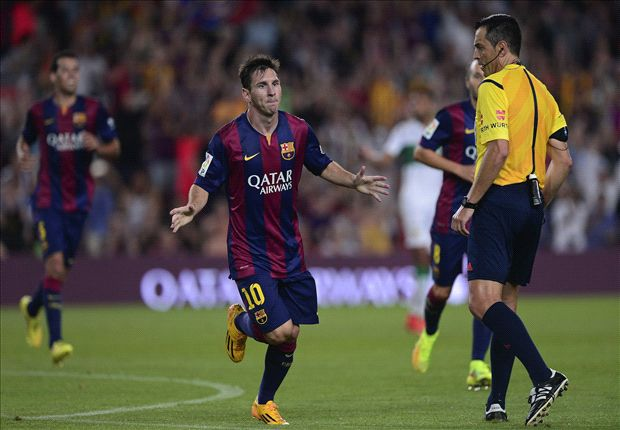 Barcelona 3-0 Elche: Messi at the double for 10-man Blaugrana