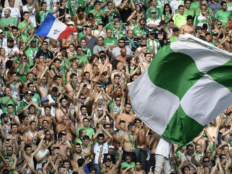 Les fans de Saint-Etienne mettent l'ambiance à Manchester