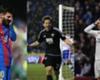 A composite image of Lionel Messi (L), Lasse Vibe (C) and Cristiano Ronaldo (R)