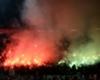 Saint-Etienne fans let off flares at Old Trafford