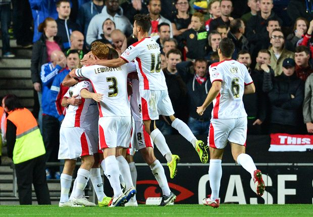 MK Dons 4-0 Manchester United: Van Gaal's side shocked by League One outfit